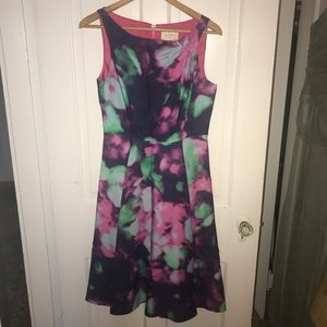 Kate Spade Watercolor Fit and Flare Dress